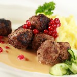 The national dish of Sweden - Meatballs