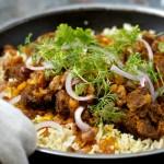 National dish of Kuwait - Machboos Laham