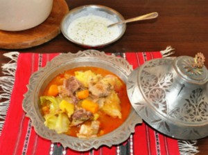National dish of Bosnia and Herzegovina - Bosanski Lonac