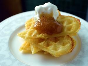 Swedish waffles - frasvåfflor