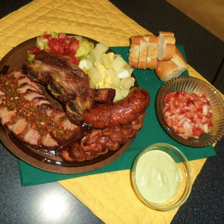 The national dish of Argentina - Asado