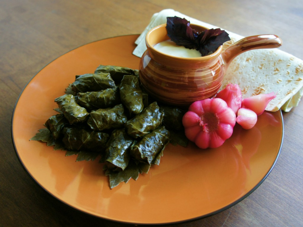The national dish of Azerbaijan - Yarpag dolmasi