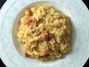 Recipe: risotto with chorizo