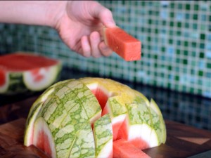 How to chop a watermelon