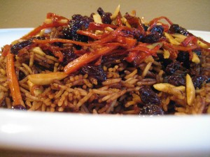 the national dish of Afghanistan - Qabili Palau