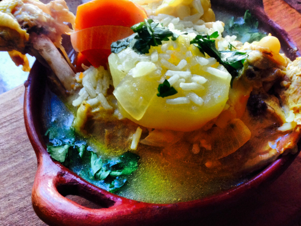 the national dish of Chile - Cazuela de Ave