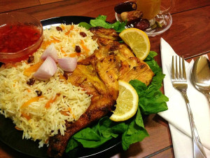 The national dish of Saudi Arabia - Kabsa Fahm (Ruz Bukhari)