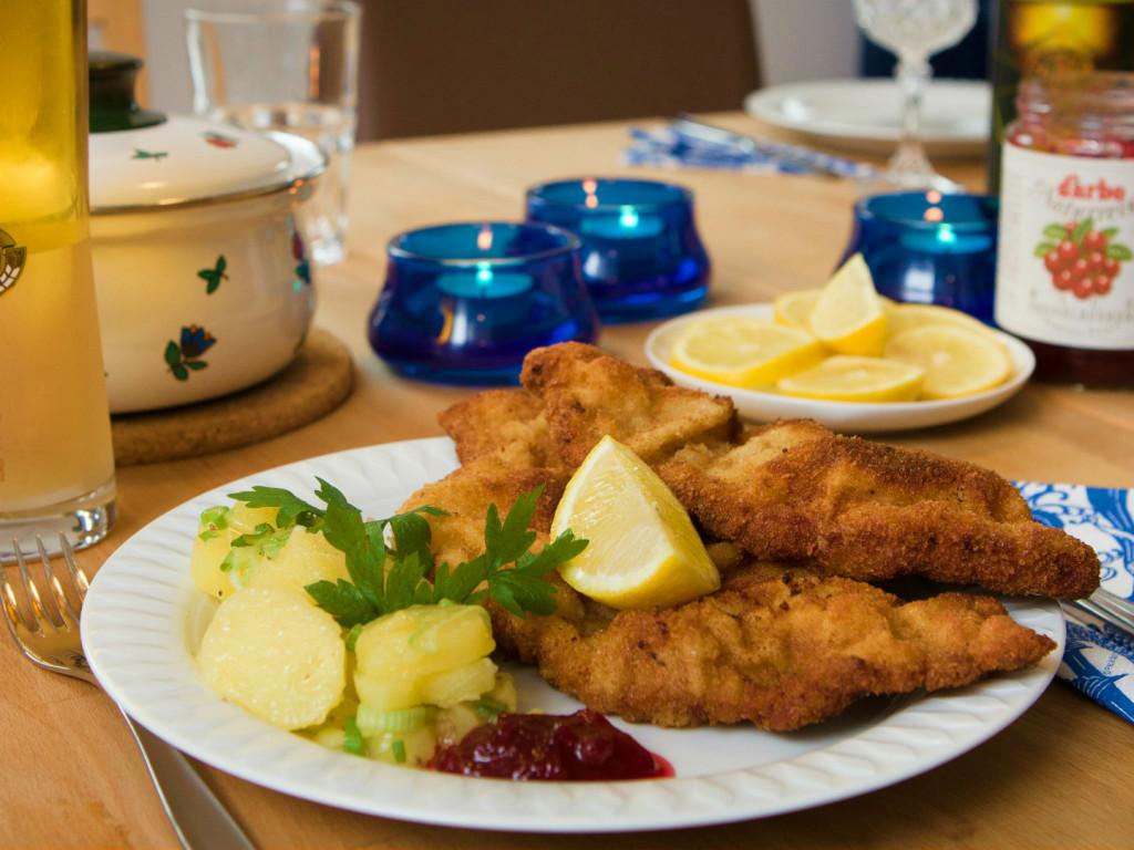 The national dish of Austria - Wiener schnitzel