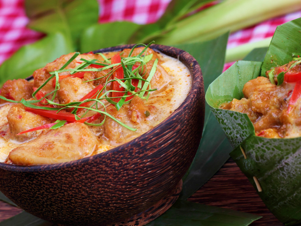 The national dish of Cambodia - Fish amok