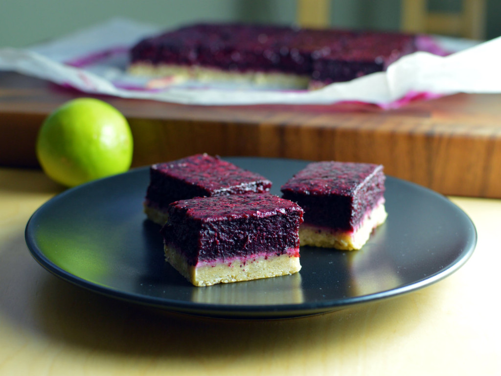 blueberry lime bars