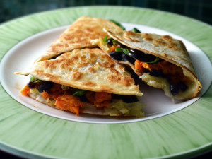 basic quesadilla recipe - sweet potato black bean and spinach