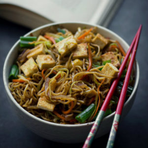 Vegan Yakisoba Noodles stir-fry