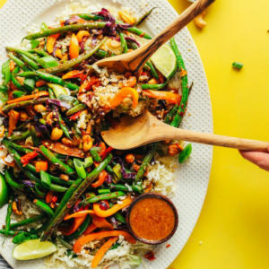 Cauliflower Rice Stir-Fry with Veggies Cashews