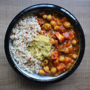 Pumpkin Coconut Chickpea Curry