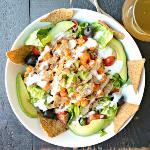 Veggies save the day - Buffalo Ranch Chickpea Taco Salad Vegan