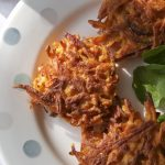 Thinly spread - Carrot and coriander fritters