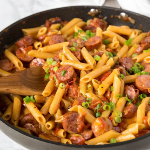 One-Pot-Cheesey-Sausage-Pasta