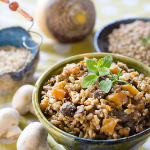 Healthy slow cooking - vegan instant pot lentils and rice with rutabaga