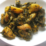 Lisas kitchen - Saag aloo spinach and potato curry