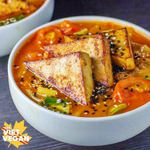 the viet vegan - spicy lemongrass noodle soup