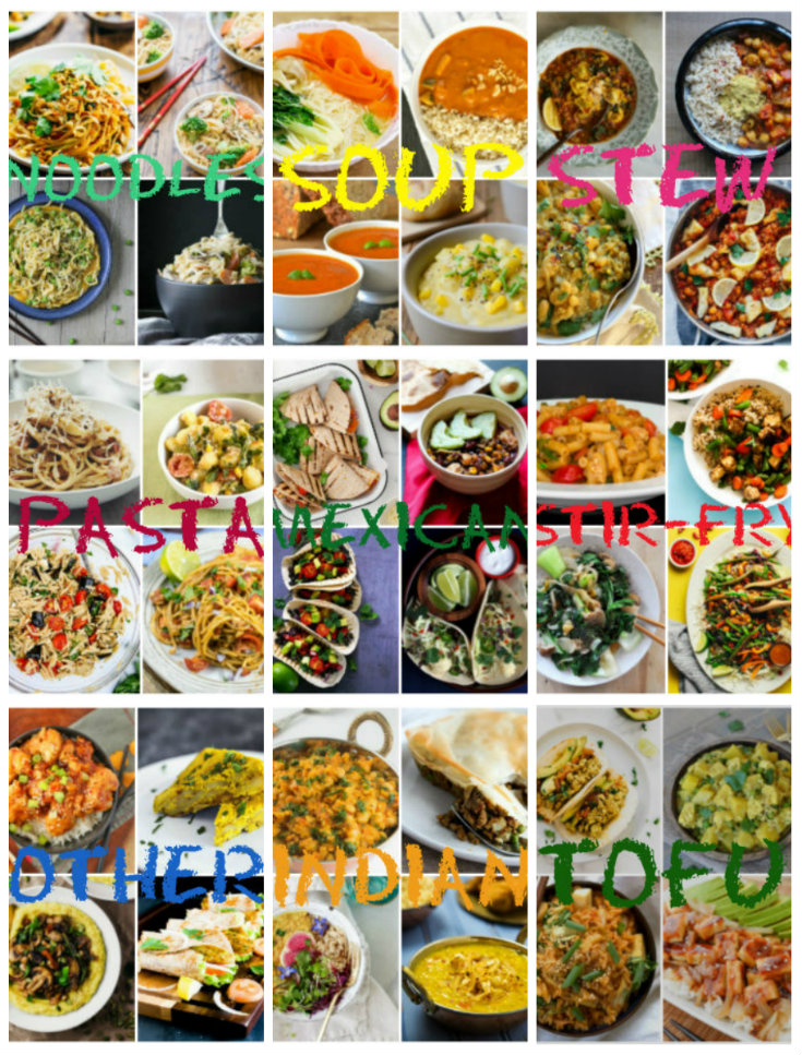 Collection of easy veggie recipes