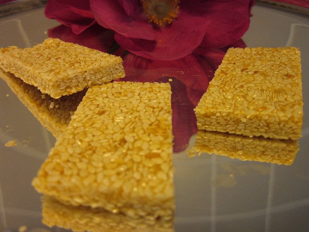 Crunchy Sesame Seed Candy Recipe - Genius Kitchen |Sesame Seed Candy With Cranberries