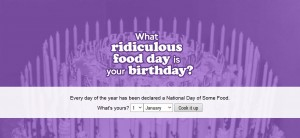What Ridiculous Food Day Is Your Birthday?