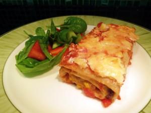Recipe: Vegetarian BBQ enchiladas