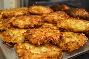 Celebrate Hanukkah with crispy potato latkes