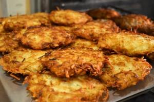 Celebrate Hanukkah with crispy potato latkes