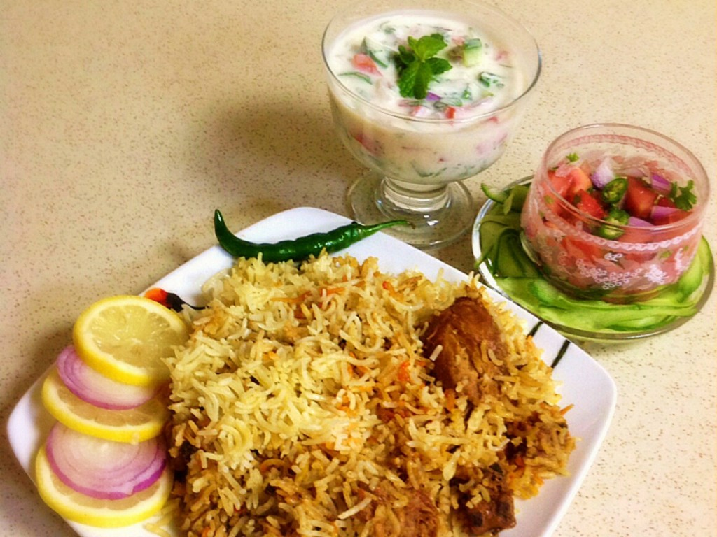 The national dish of Pakistan - Chicken Biryani