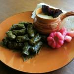 The national dish of Azerbaijan - Yarpag dolmasi