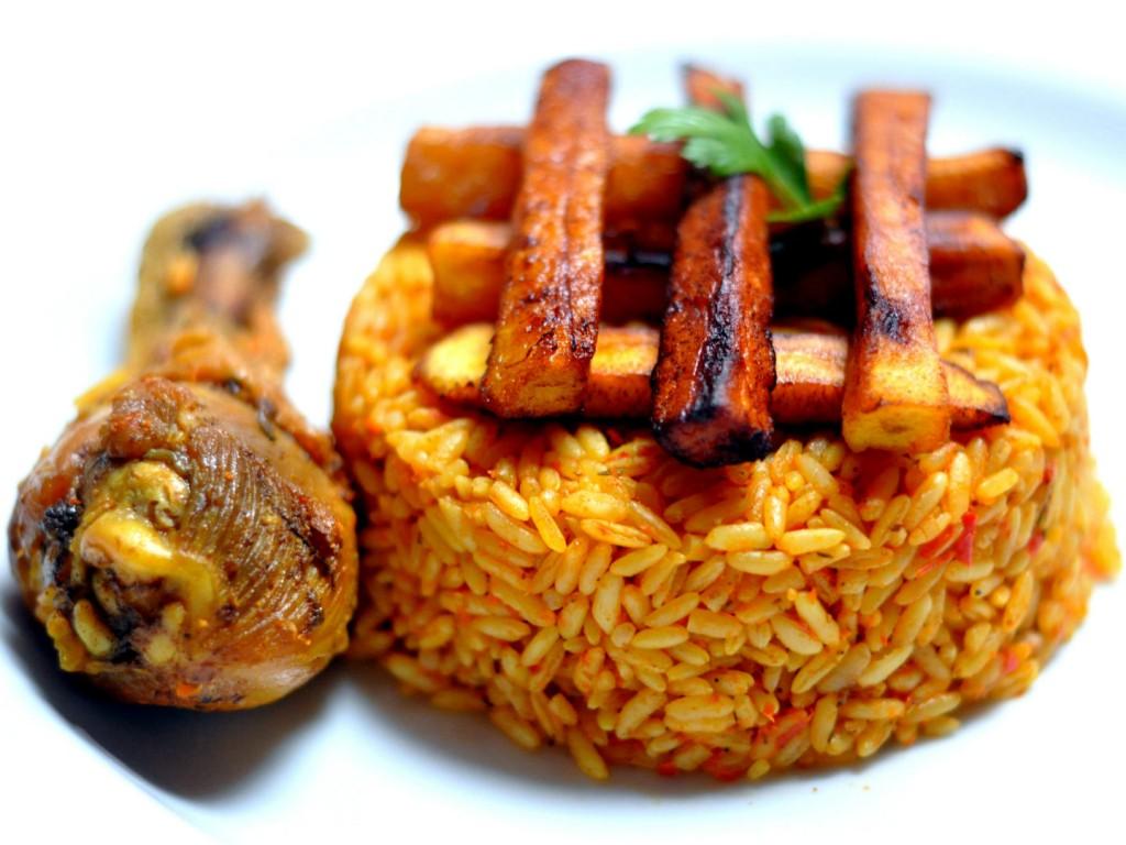 The national dish of Nigeria - Jollof rice
