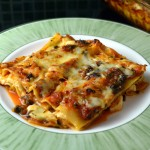 Lasagna with halloumi and spinach