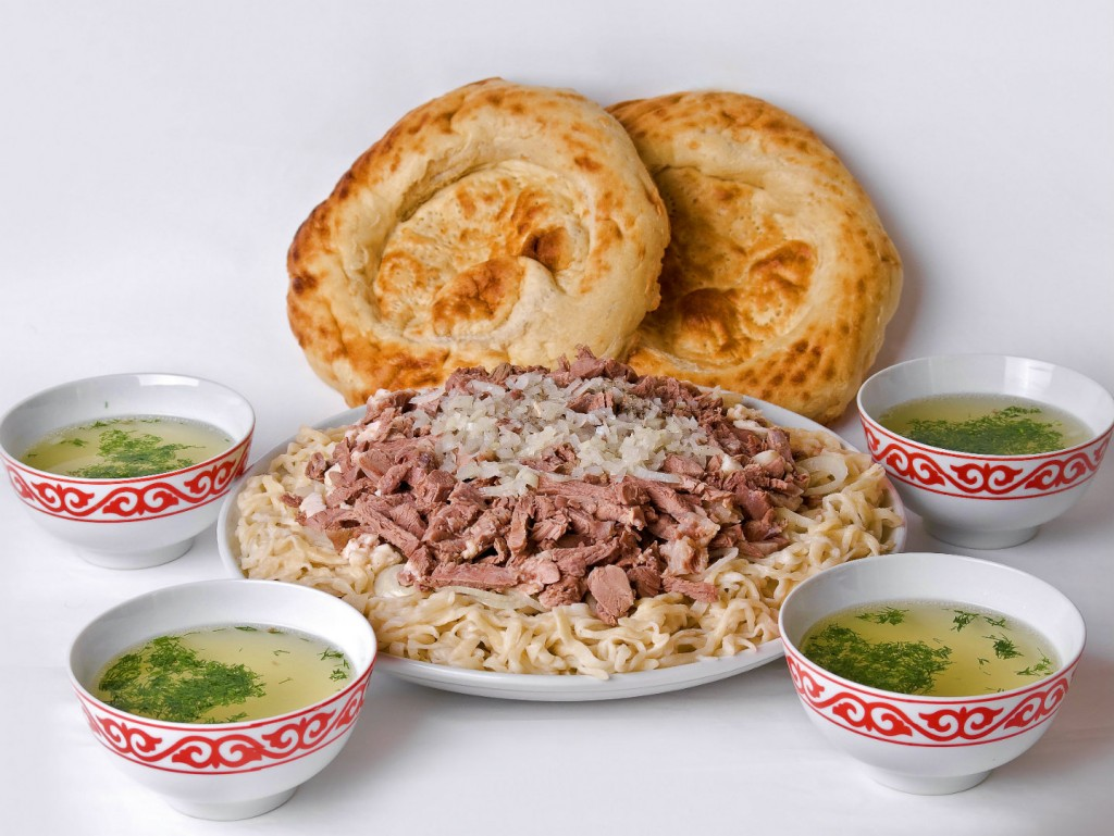 the national dish of Kyrgyzstan - Besh Barmak