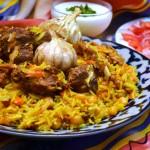 the national dish of Uzbekistan - tuy palovi or plov