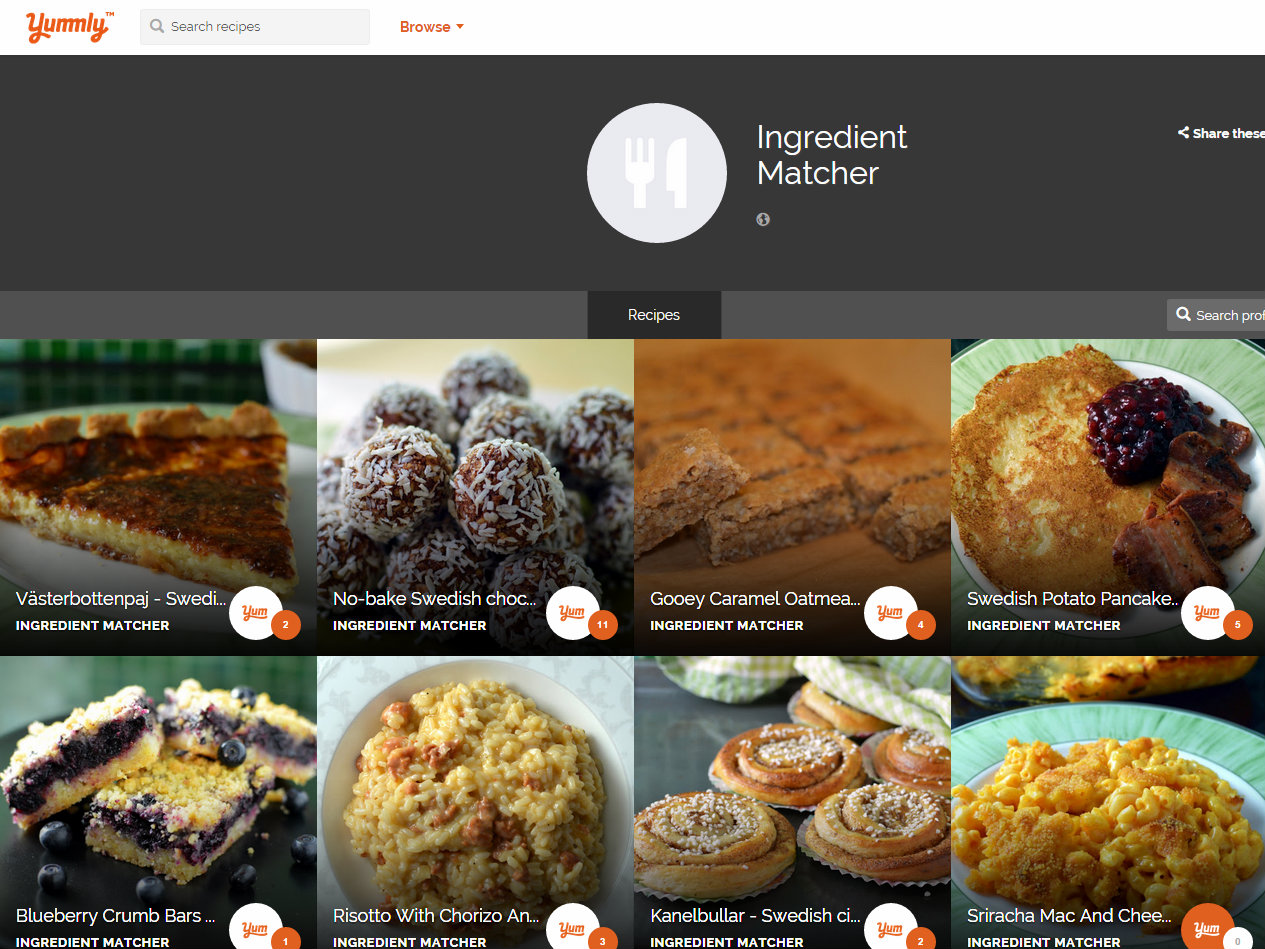 Find recipes by ingredients. Search Recipes based on Allergies, Dietary Restrictions and Cuisines. Create ingredients List.