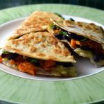 basic quesadilla recipe - sweet potato black bean and spinach