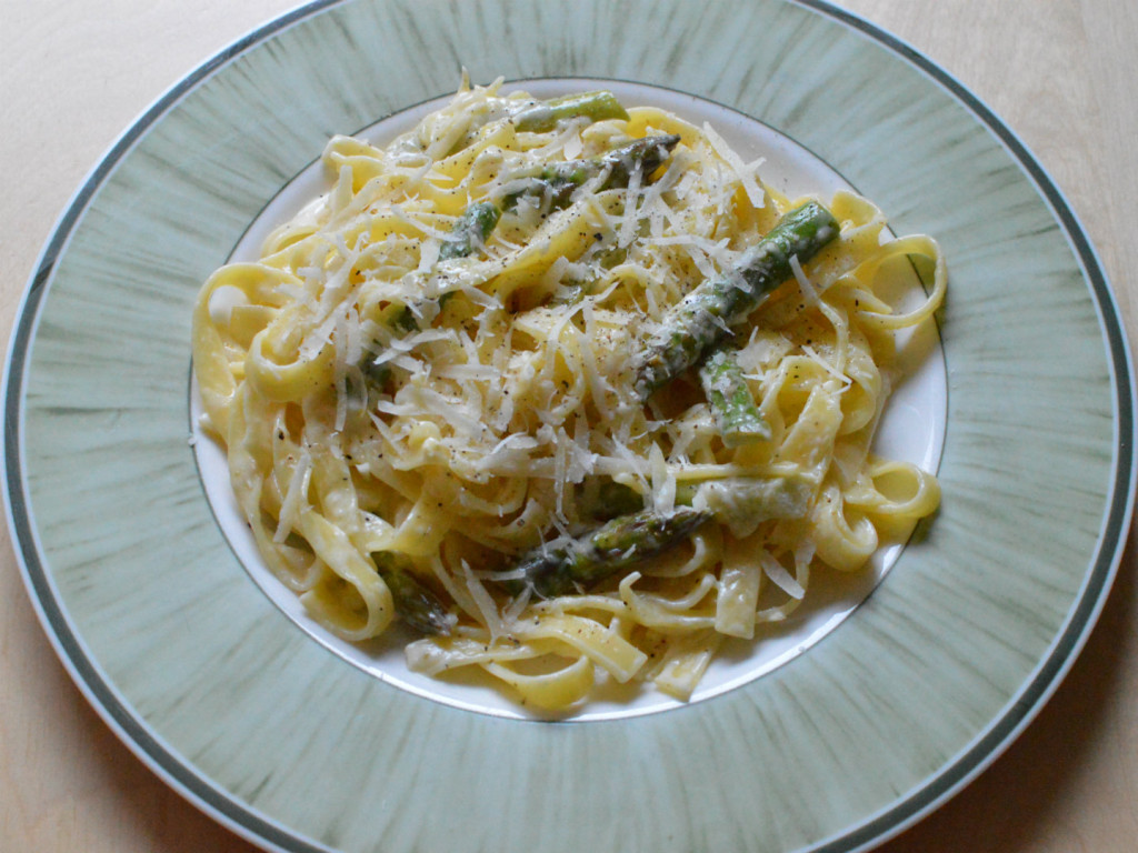 asparagus and lemon pasta