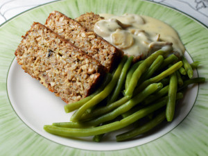 The vegetarian meatloaf - nut loaf