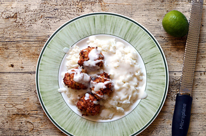 Recipe: Chicken meatballs with coconut lime sauce
