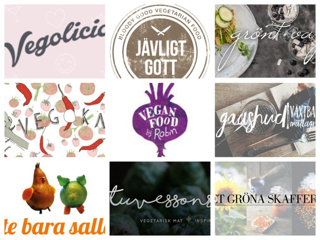 Svenska Vegan eller Vegetariska matbloggare 2017