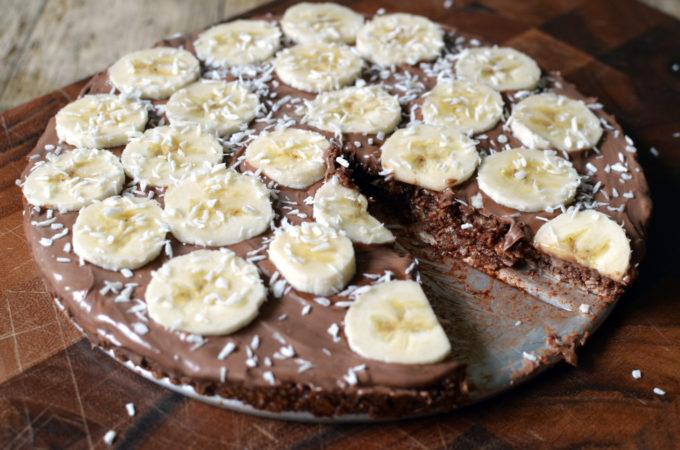 Recipe: No-bake chocolate ball cake with nutella and bananas