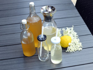 Elderflower lemonade, syrup, cordial