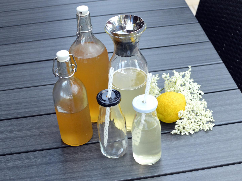 Elderflower lemonade, syrup, cordial