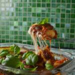 oven baked gnocchi in tomato sauce and mozzarella