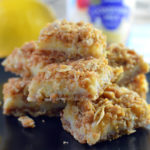 Easy lemon crumb bars with condensed milk
