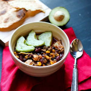 Vegan 30 minute mexican chili