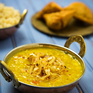 Easy fat free dal tadka