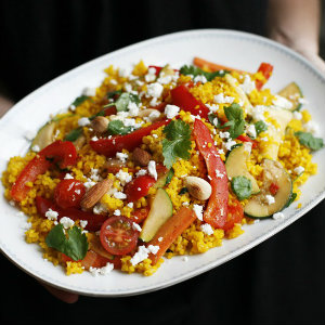 Christmas bulgur with saffron